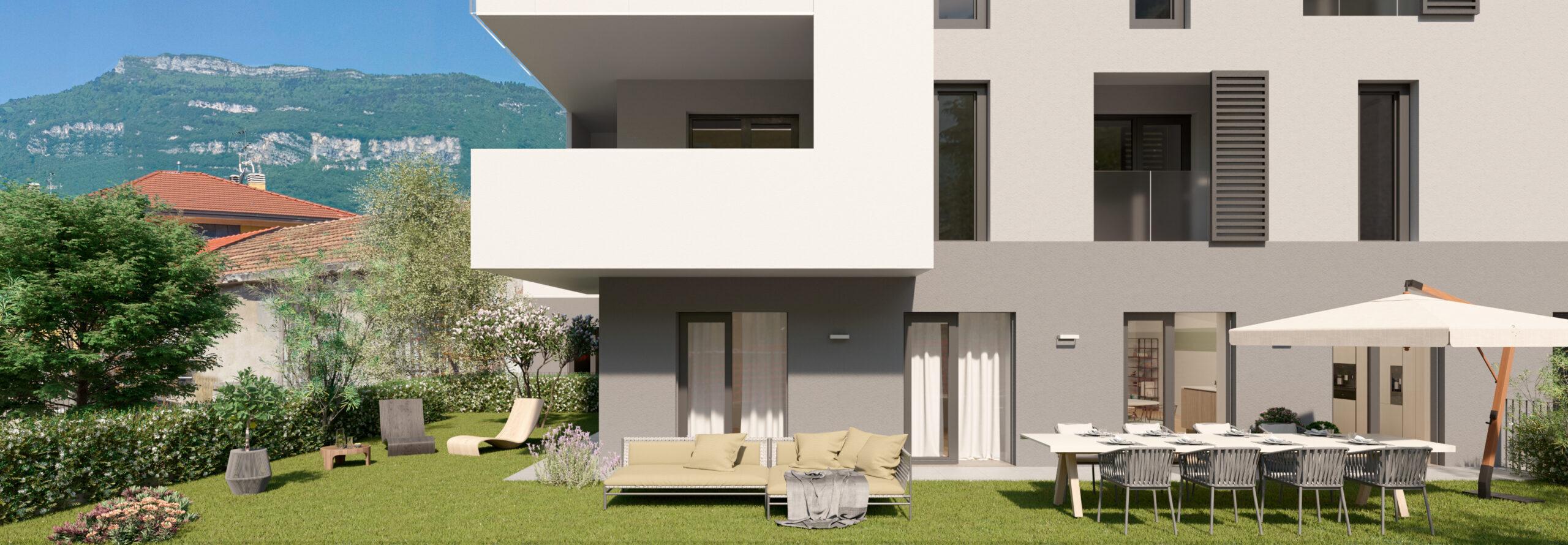 vista esterno giardino, residenza aurora